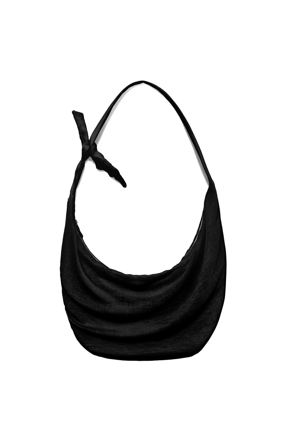 Knot Pleats Cross Bag Women [Black]