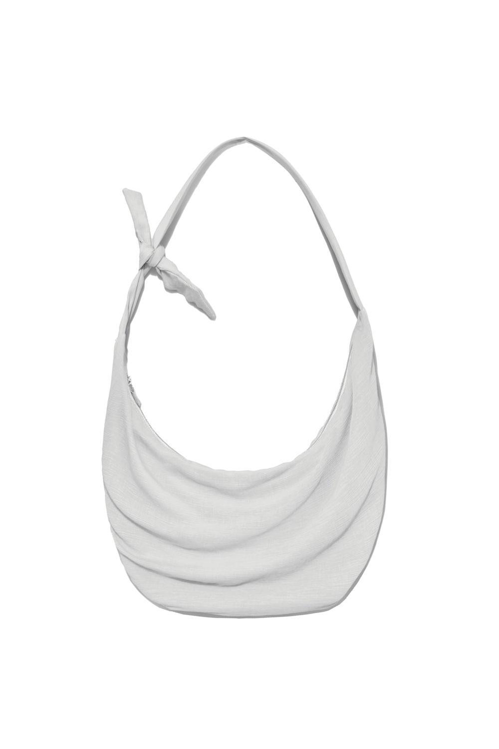 Knot Pleats Cross Bag Women [Light Grey]