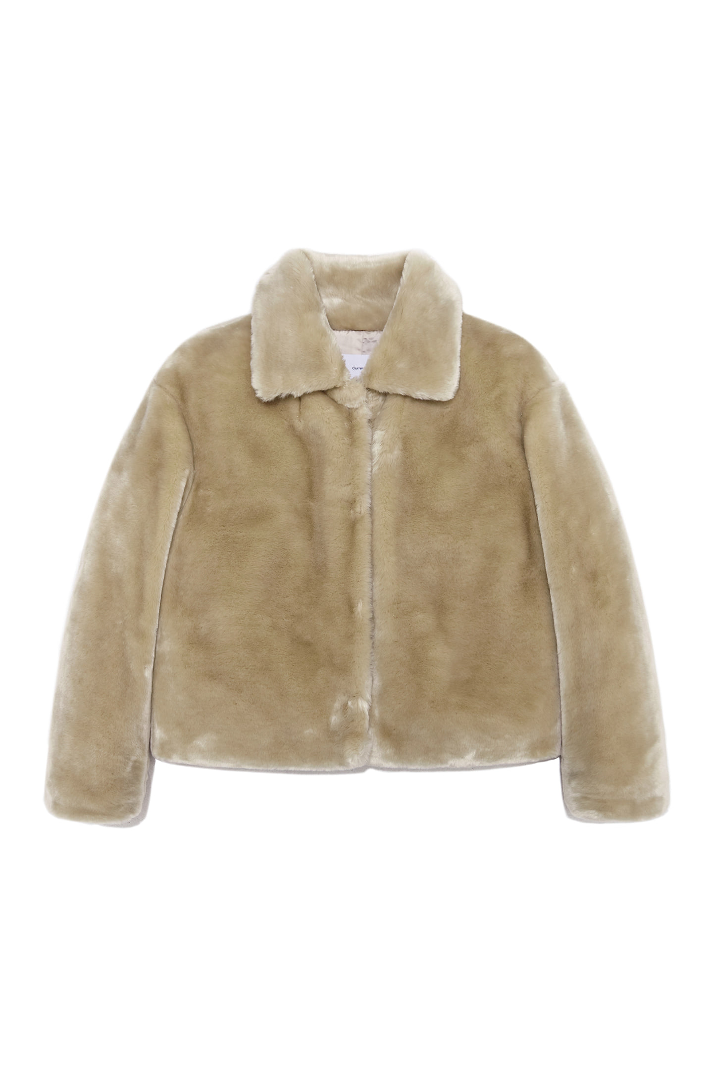 Fur Crop Jacket Women [Beige]