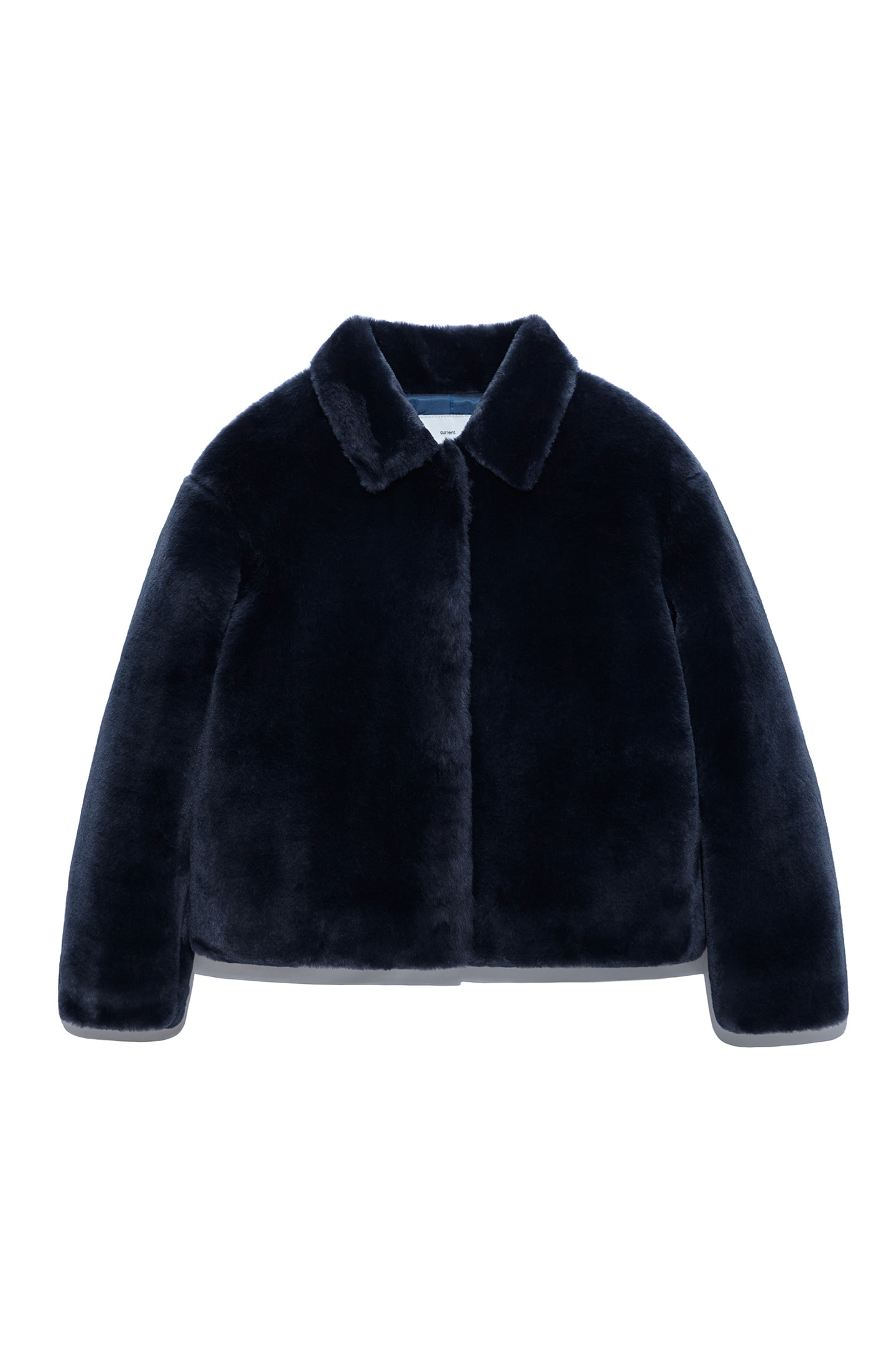 Fur Crop Jacket Women [Navy]
