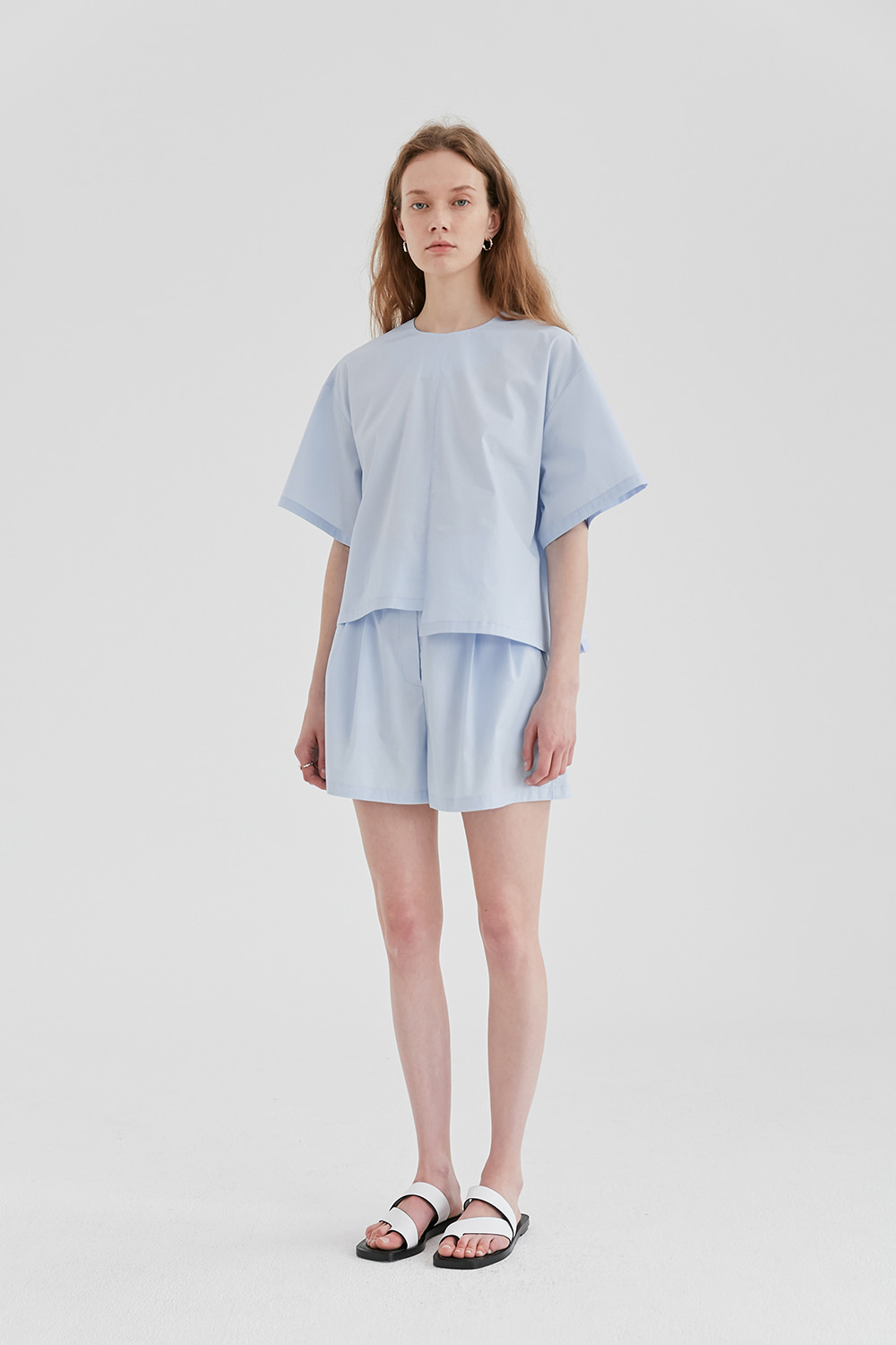 Unbalanced Blouse Women [Sky Blue]