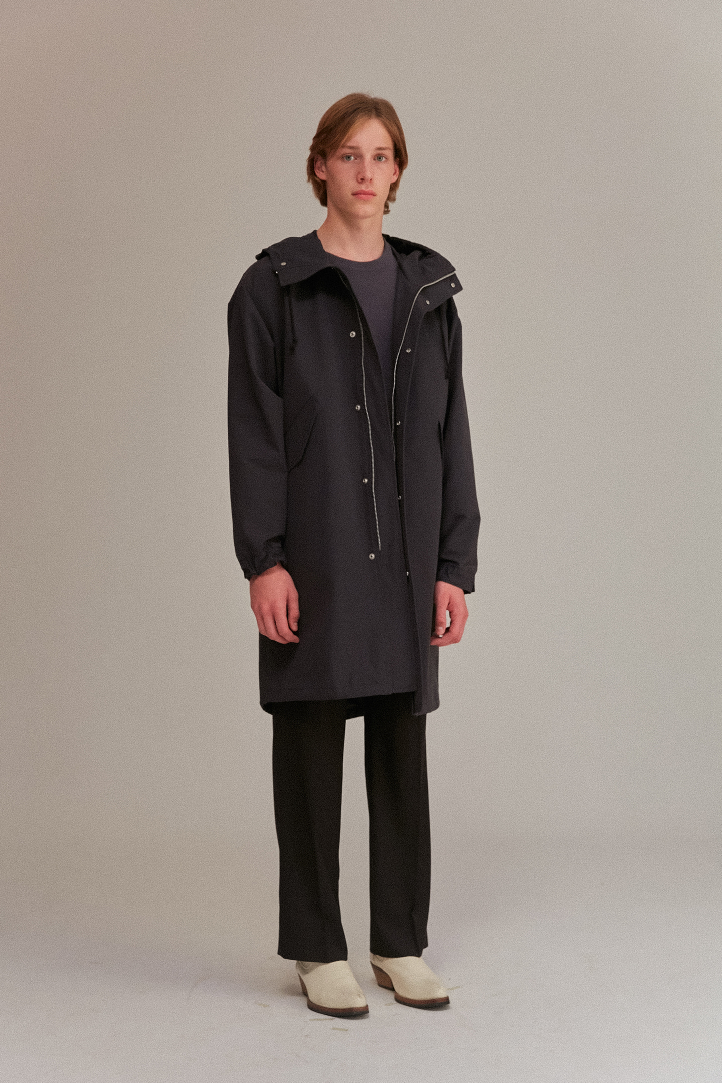Hooded Parka Men [Almost Black]