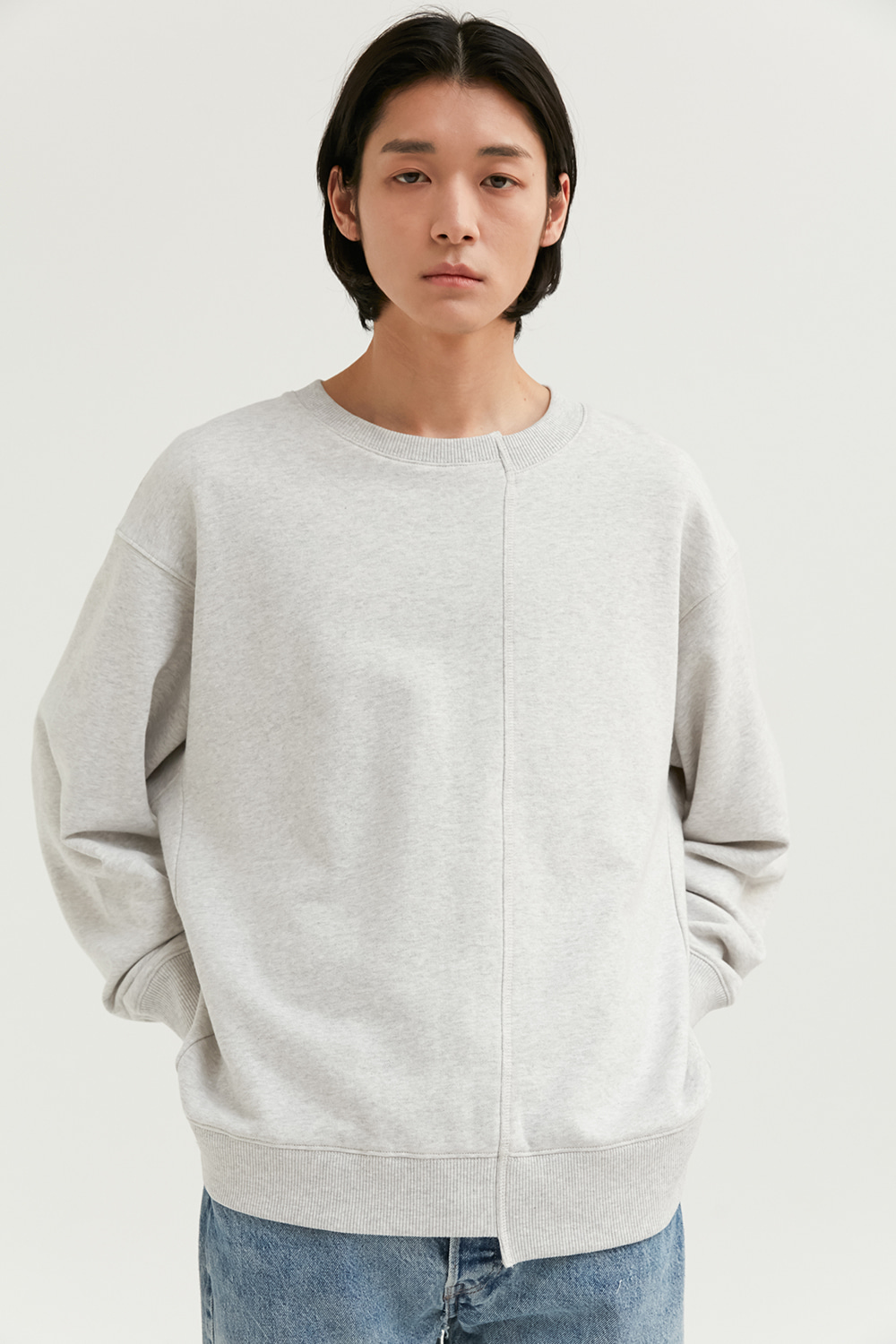 Unbalance Crewneck Men [Melange Gray]