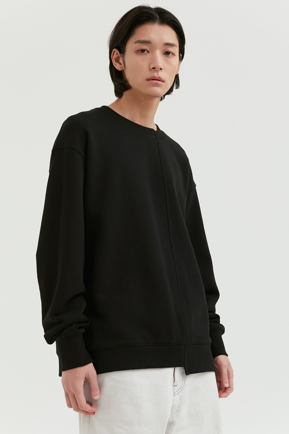 Unbalance Crewneck Men [Black]