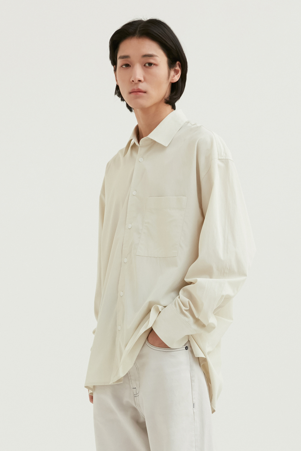 Relax Shirts Men [Beige]