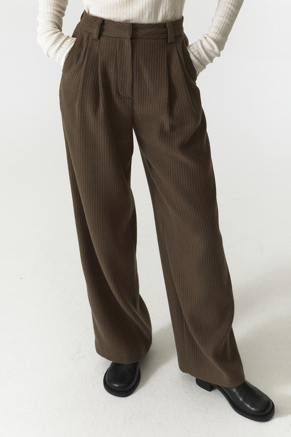 Wool Over Pants Women JA [Dusty Beige]