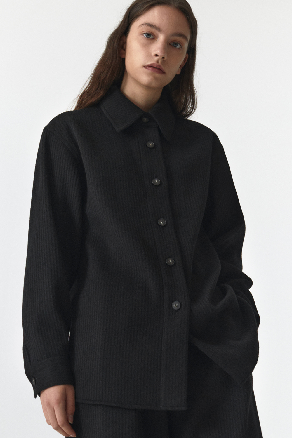 Wool Over Shirts Women JA [Black]