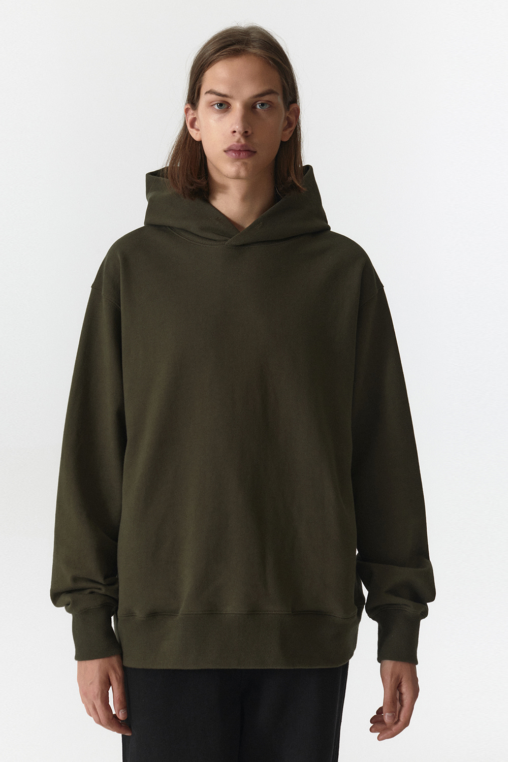 Side Pocket Hoodie Men JA [Khaki]