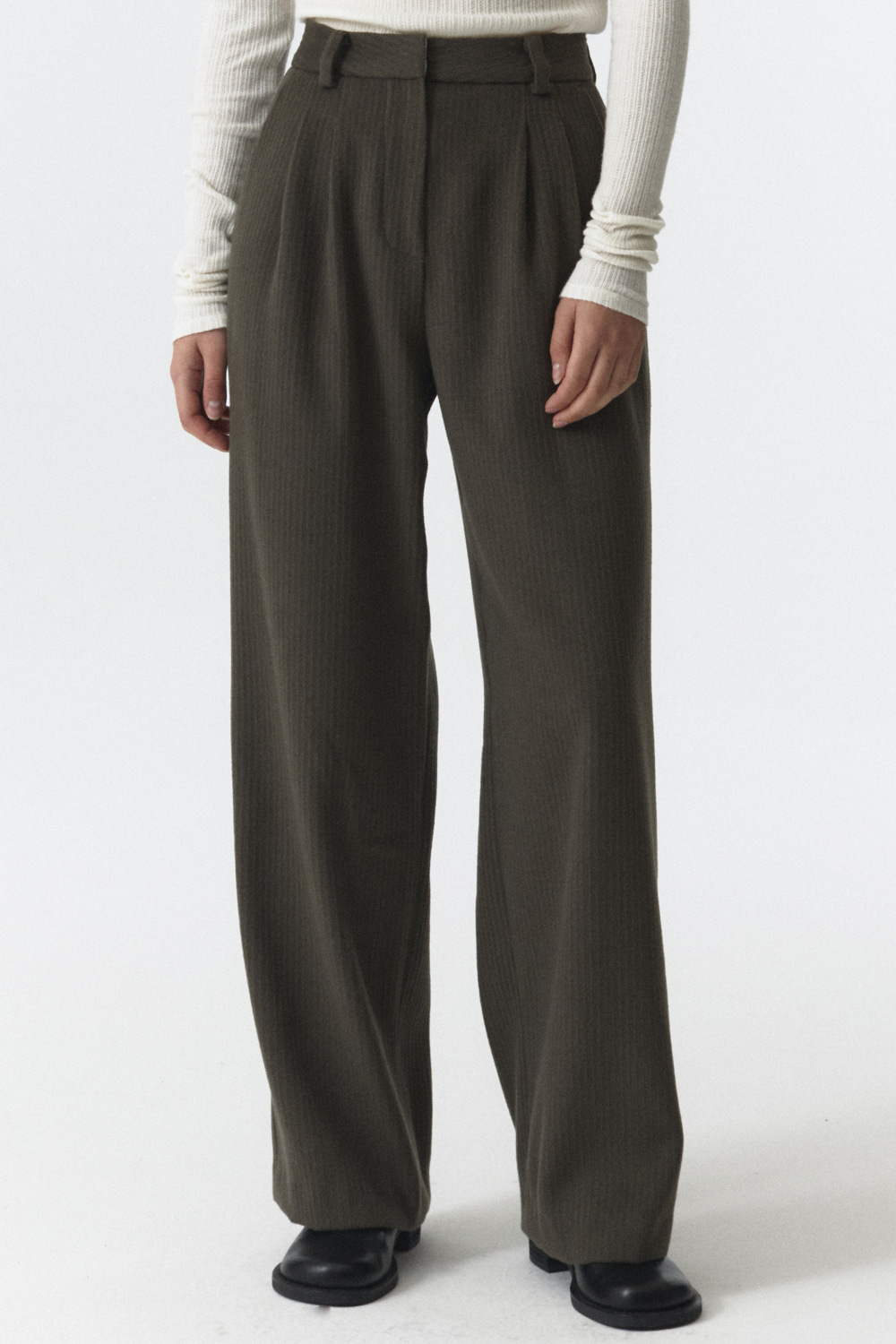 Wool Over Pants Women JA [Khaki Gray]