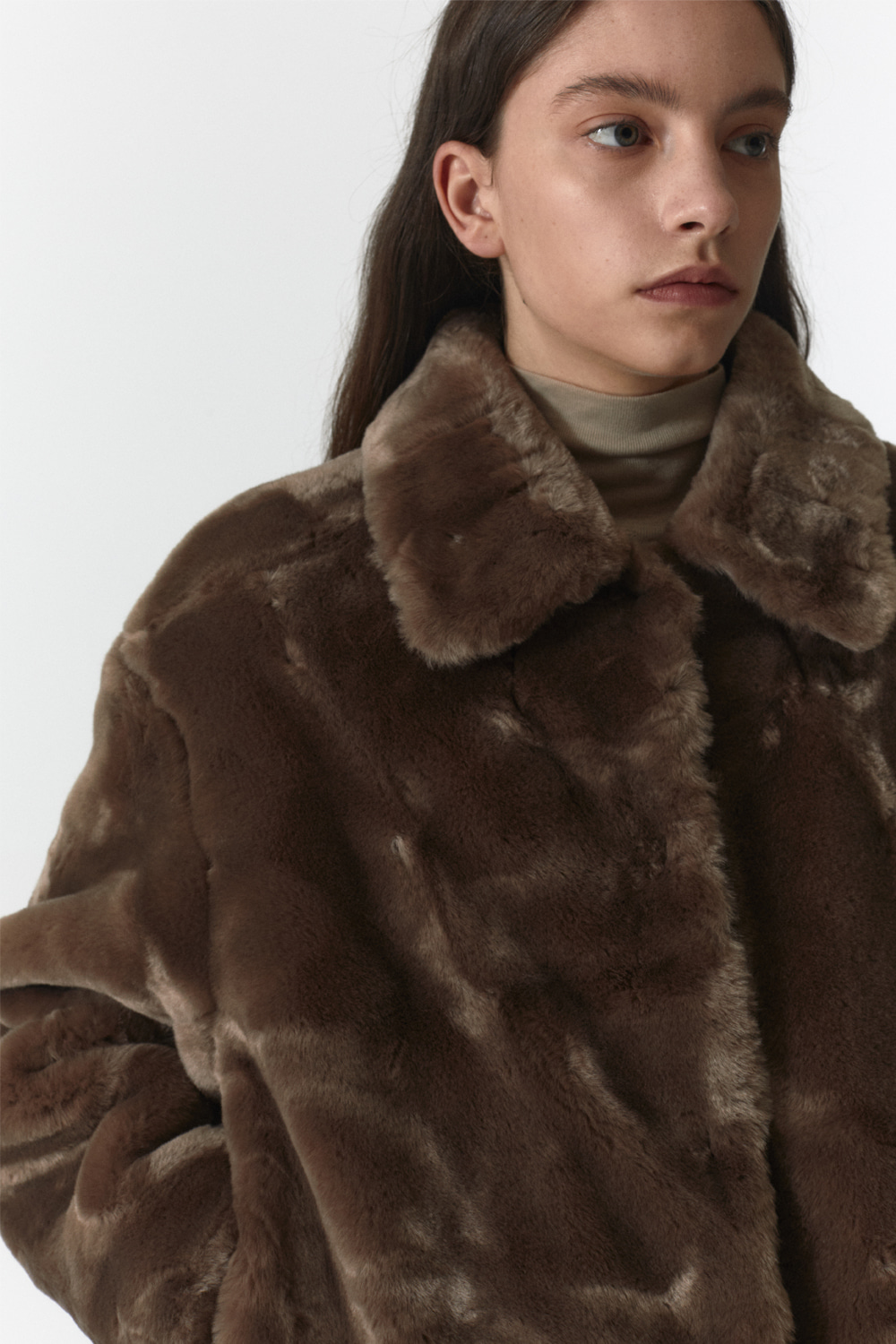 Fur Crop Jacket Women JA [Brown]